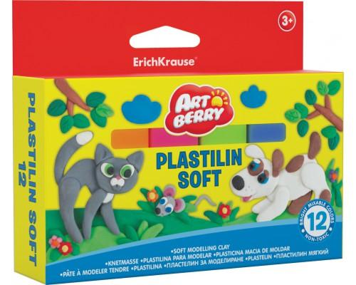 Пластилин мягкий Artberry 12 цветов/288г, картон с европодвесом