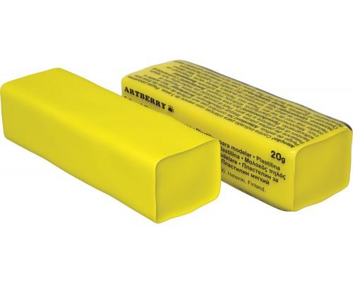 Пластилин мягкий Artberry 20г, желтый