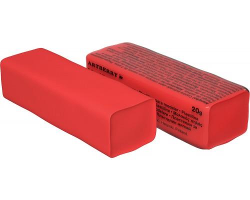 Пластилин мягкий Artberry 20г, красный