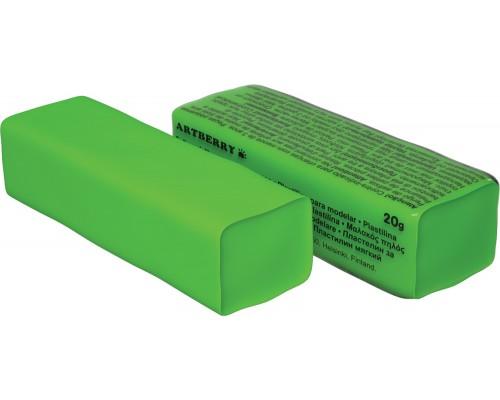 Пластилин мягкий Artberry 20г, зеленый