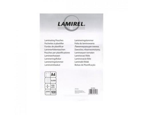 Пленка для ламинатора А4 216х303мм, 100мкм, LAMIREL, 100шт