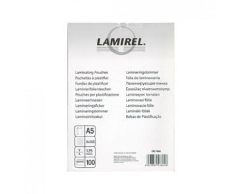 Пленка для ламинатора 54x86мм, 125мкм, LAMIREL, 100шт