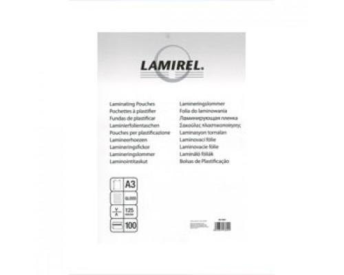 Пленка для ламинатора А3 303x426мм, 125мкм, LAMIREL, 100шт