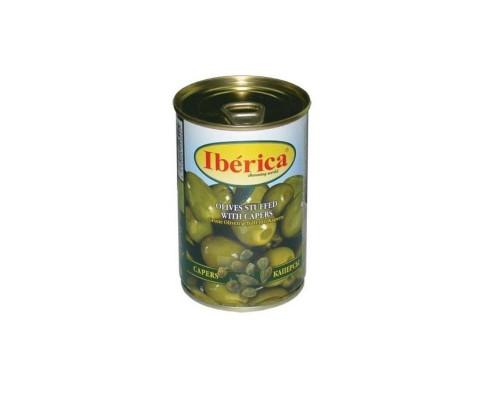 Оливки Иберика с каперсами 300 г железная банка