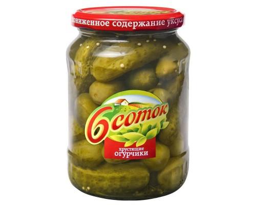 Огурцы Шесть соток деликатесные 680 г