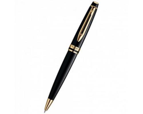 Ручка шариковая WATERMAN Expert Black GT, корпус черный с позолотой, синий