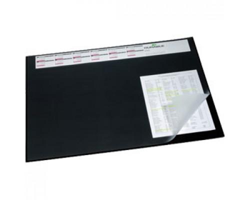 Подкладка для письма 52х65см DURABLE 7204-01, календарь, черный с прозрач.лист.