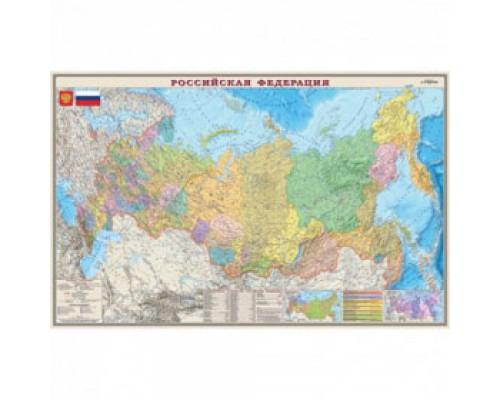 Подкладка для письма 37,5х58см, Карта России, БЮРОКРАТ