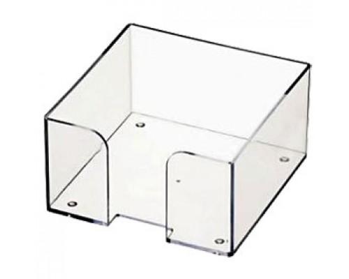 Подставка для бумажного блока 90х90х50мм, без листов, прозрачный