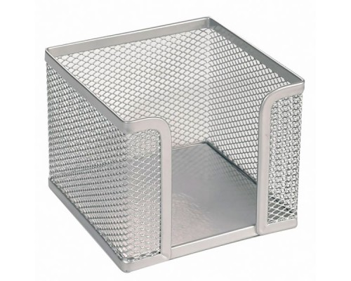 Подставка для бумажного блока 100х100х80мм ERICH KRAUSE Steel, металл, серебро