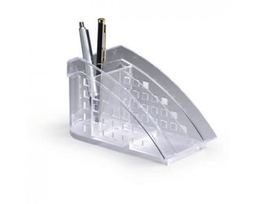 Подставка для ручек DURABLE Trend 1701627-400, 3 отделения, прозрачный