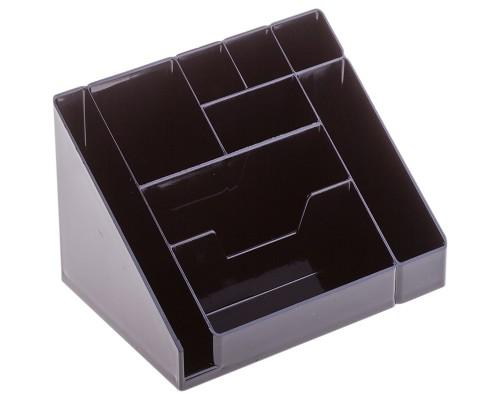 Подставка для канцеляр. мелочей и ручек, КАСКАД, черный
