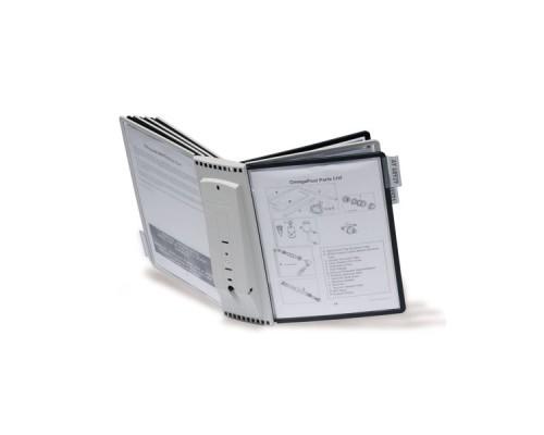 Демо-система настенная DURABLE Sherpa 5631-22, пластик, 10 панелей (5шт. черный, 5шт. серый)