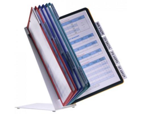 Демо-система настольная DURABLE Vario 5570-00, пластик, 10 панелей (10шт. ассорти)