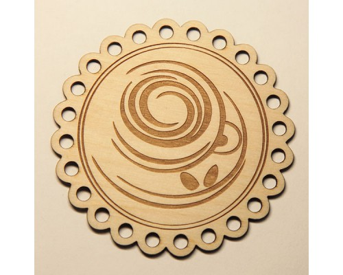 Подставка под кружку круглая