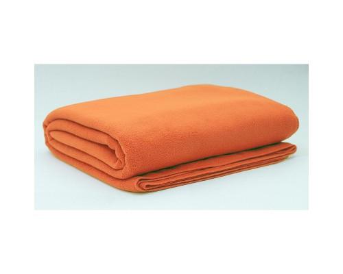 Плед 150х200 флис оранжевый