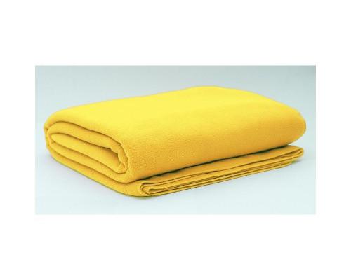 Плед 150х200 флис жёлтый
