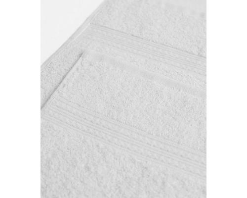 Полотенце махровое с бордюром 50x90 см 415 г/кв.м белое
