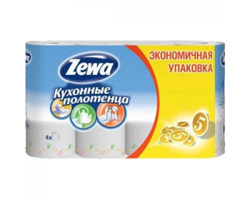 Полотенца бумажные ZEWA 2х-сл., 4 рул., белый
