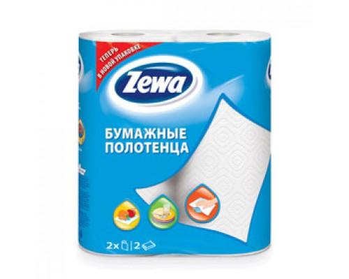 Полотенца бумажные ZEWA 2х-сл., 2 рул., белый