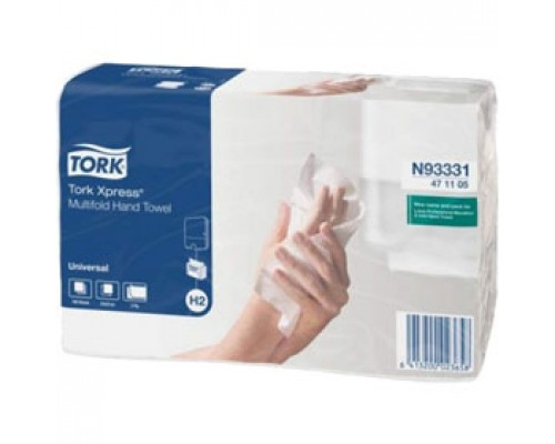 Полотенца бумажные TORK Advanced H2 Z-сложение 2х-сл., 190л., ест. белый, 20 шт.