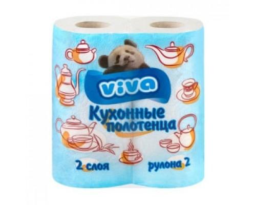 Полотенца бумажные VIVA 2х-сл., 2рул., белый