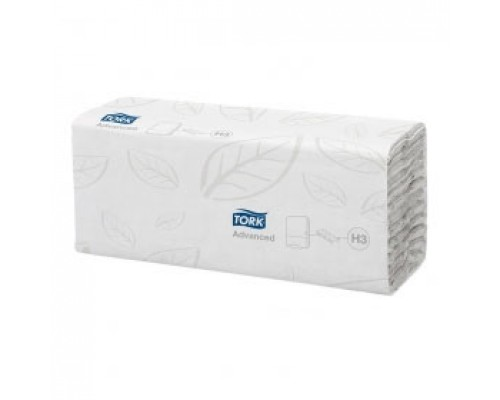 Полотенца бумажные TORK Advanced H3 С-сложение 2х-сл., 120л., белый