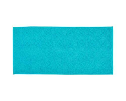 Полотенце махровое жаккард 50х100 430гр/м2 средний бирюзовый