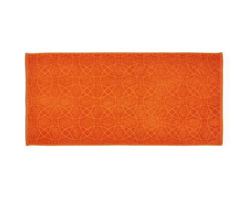 Полотенце махровое жаккард 50х100 430гр/м2 морковный