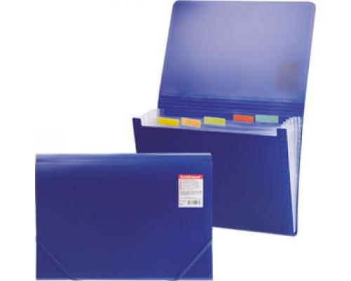 Папка картотека на резин. ERICH KRAUSE Standard, 12 отделений, пластик, синий