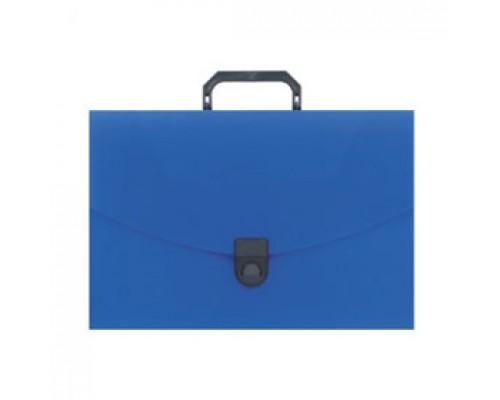 Папка-портфель 1 отделение с ручкой, синий
