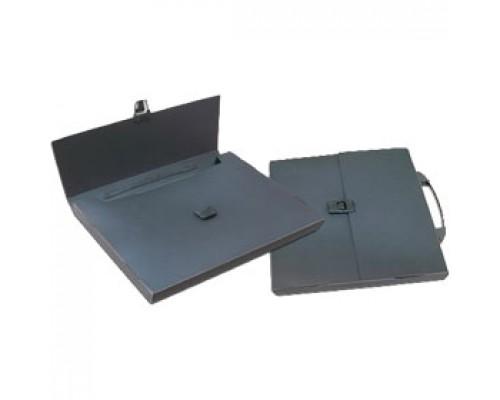 Папка-портфель 1 отделение с ручкой, черный
