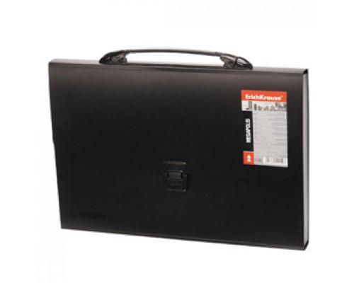 Папка-портфель ERICH KRAUSE Megapolis, 12 отделений с ручкой, черный