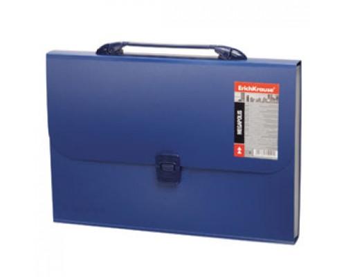 Папка-портфель ERICH KRAUSE Megapolis, 12 отделений с ручкой, синий