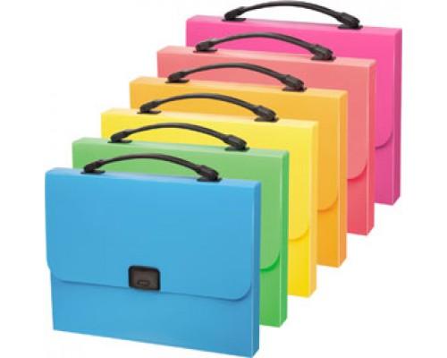 Папка-портфель ERICH KRAUSE Neon, 1 отделение с ручкой, ассорти