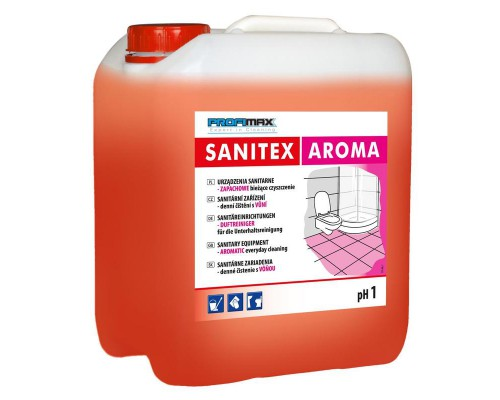 Профессиональное кислотное средство для мытья кафельных и керамических поверхностей Lakma Profimax Sanitex Aroma 5 лов