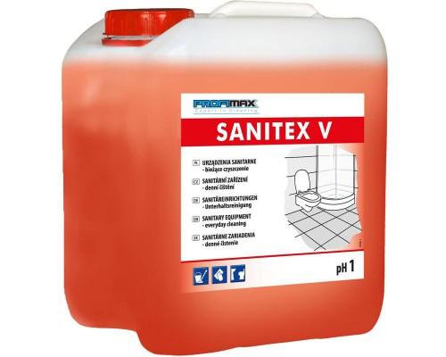 Профессиональное кислотное средство для ежедневной чистки сантехники Lakma Profimax Sanitex V 5 лов