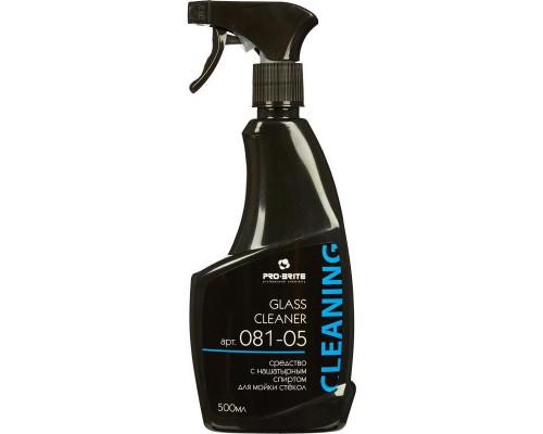 Профессиональное моющее средство для стекол с нашатырным спиртом Pro-Brite Glass Cleaner 500 мл (готовый к применению препарат)