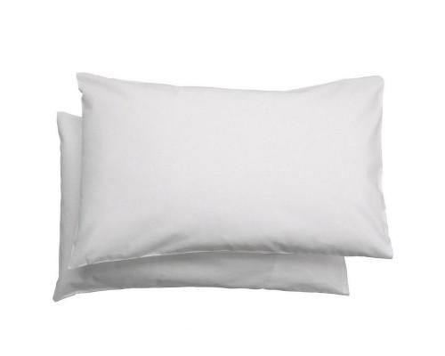 Наволочка 50х70 см поликоттон белая (110 г/кв.м, 10 штук в упаковке)