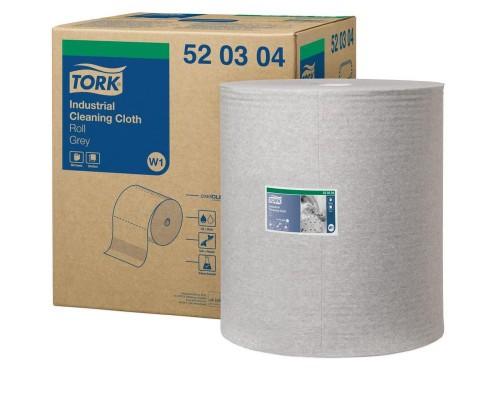 Нетканый материал повышенной прочности для уборки Tork W1/W2/W3 (серый, 361 метр в рулоне)