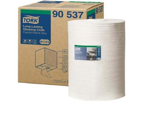 Нетканый материал повышенной прочности для уборки Tork W1/W2/W3 (белый, 114 метров в рулоне)