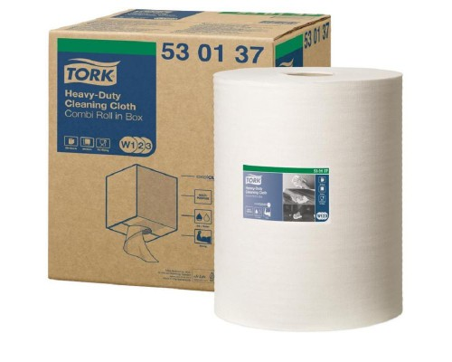 Нетканый материал повышенной прочности для уборки Tork W1/W2/W3 (белый, 106 метров в рулоне)