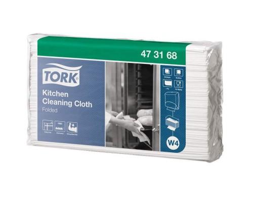 Нетканый материал повышенной прочности для кухни Tork W4 (белый, 85 листов в упаковке)