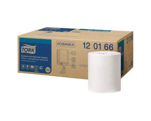 Протирочная бумага в рулонах Tork M2 1-слойная (белая, 6 рулонов по 300 метров)