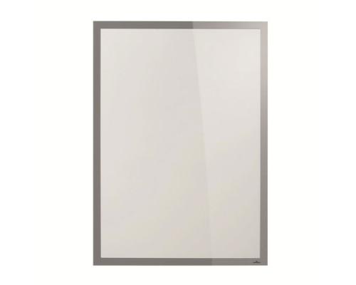 Рамка 50х70см DURABLE Duraframe Poster 4996-01, самоклеящаяся, магнитная, серебро
