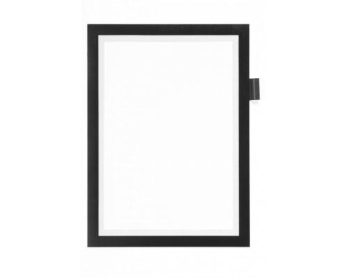 Рамка A4 DURABLE Duraframe Note 4993-01, самоклеящаяся, магнитная, черный