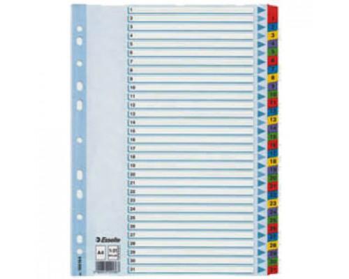 Разделитель листов А4, картонный цифровой ESSELTE, 31 раздел, ламинир.табуляторы