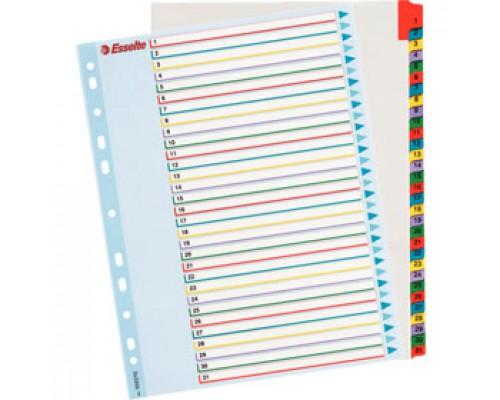 Разделитель листов А4+, картонный цифровой ESSELTE Maxi, 31 разделов, табуляторы с индексом