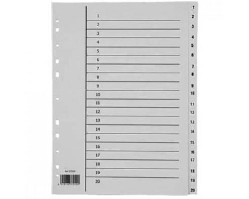 Разделитель листов А4, пластиковый цифровой, 31 раздел