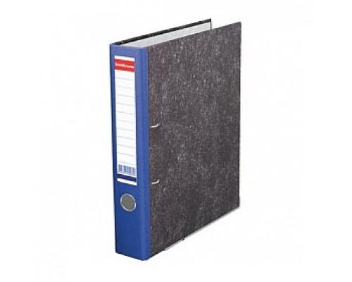 Папка-регистратор А4 ERICH KRAUSE, снаружи и изнутри картон, 50мм, мрамор, корешок синий
